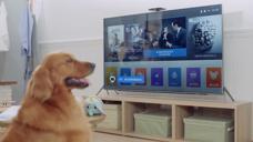 暴风TV  AI 人工智能电视 家庭 吃饭 男 女 小孩