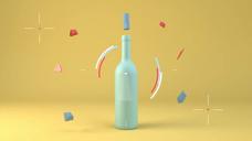 酒瓶动态创意