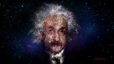 粒子组成人 镜头拉伸变换