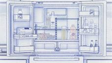 三星线描冰箱Samsung - Smart Refrigerator