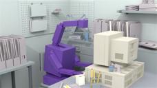 紫色机器人 动画
